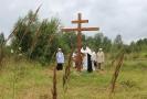 Освящен крест в Столбищах