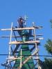 Освящен и установлен крест на купол колокольни храма святителя Тихона Амафунтского